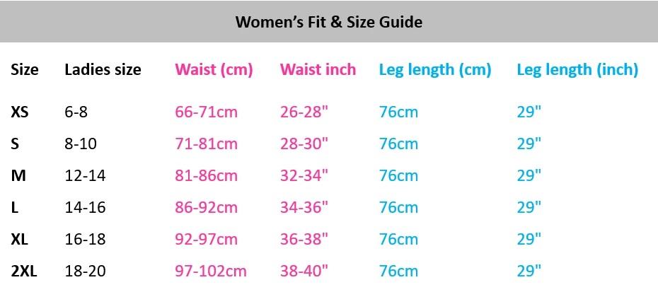 Arbortec Size guide
