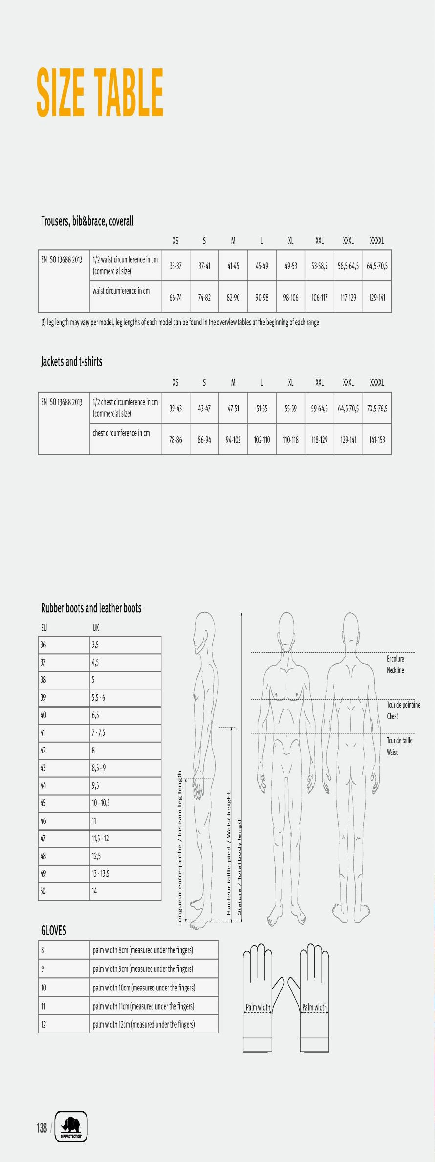 SIP Size guide